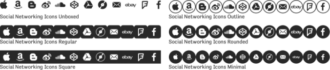 Social Networking Icons Font Preview