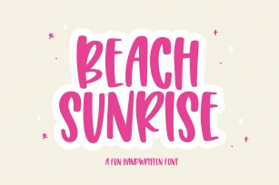 Beach Sunrise Font Download