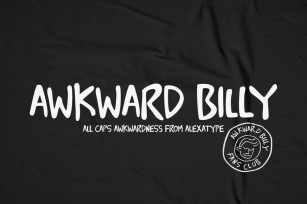 Awkward Billy - All caps font Font Download