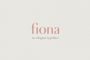 Fiona - An Elegant Typeface Font Download