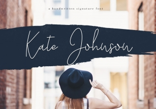 Kate Johnson - A Signature Script Font (with alternative) Font Download