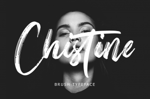 Christine Brush Typeface Font Download