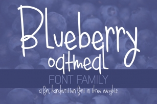 Blueberry Oatmeal Font Download