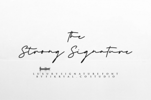 The Strong Signature Font Download