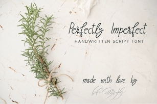 Perfectly Imperfect  Font Download