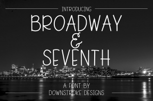 Broadway & Seventh Font Font Download