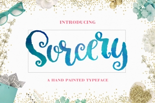 Sorcery Typeface - Brush Script Font Download