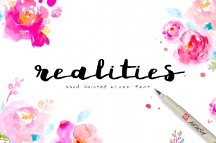 Realities Brush Font Font Download