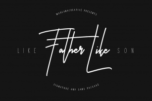 Like Father Like Son Font Download