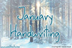January Handwriting Font Download