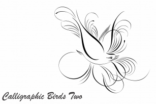 Calligraphic Birds Two Font Download