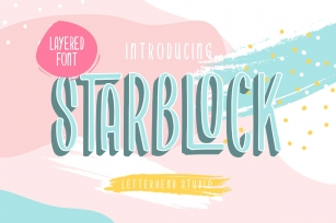 Starblock - Layered Font Font Download
