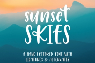 Sunset Skies Handwritten Sans Serif Font Font Download
