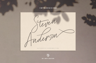 Steven Anderson - Authentic Handwriting Font Download