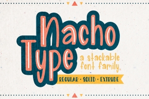 Nacho Type | A Layered Font Family Font Download