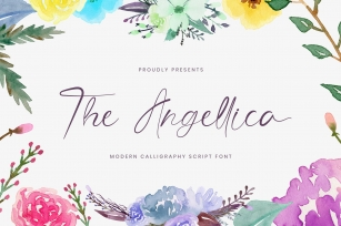 The Angellica - Modern Calligraphy Font Font Download