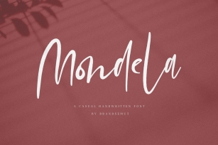Mondela || Casual Handwritten Font Font Download