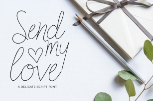 Send my Love Font Download