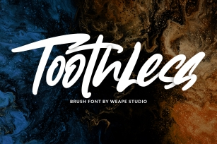 Toothless - Brush Font Font Download