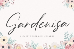 Gardenisa Beauty Modern Calligraphy Font Font Download