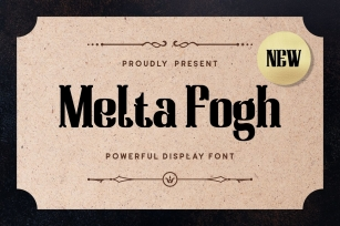 Melta Fogh - Powerful Display Font Font Download