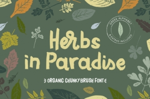 Herbs in Paradise Font Download