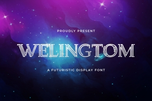 Welingtom - Futuristic Display Font Font Download