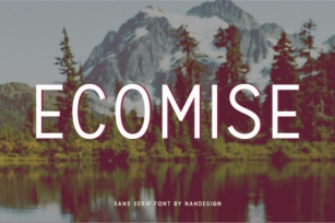 Ecomise Font Download