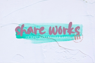 Shareworks - An Easy Handwritten Font Font Download