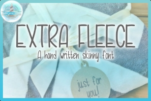Extra Fleece Handwritten Skinny Font Font Download