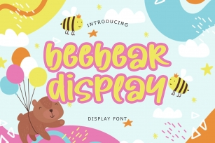 Beebear Display Font Font Download