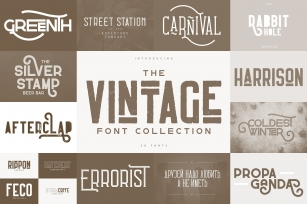 The Vintage Font Collection Font Download