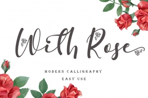 With Rose Font Download