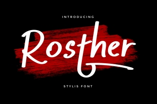Rosther Font Download