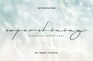 Super Shining Font Download
