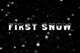First snow Font Download