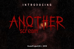 Another Scream Font Download