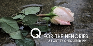 Q for the Memories Font Download