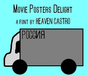 Movie Posters Deligh Font Download