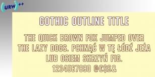 Gothic Outline Font Download