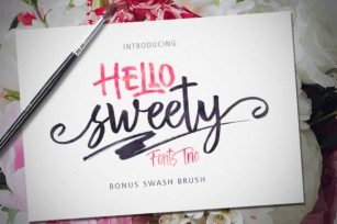 Hello Sweety Trio Font Download
