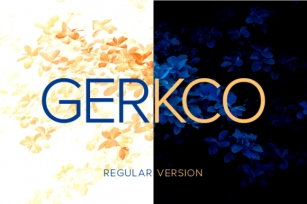 Gerkco Regular Font Download