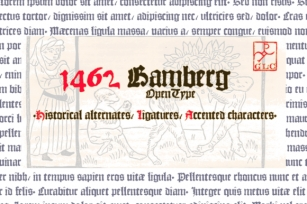 1462 Bamberg Font Download