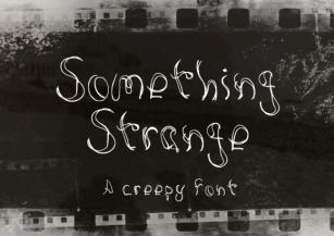 Something Strange Font Download