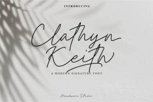 Clathyn Keith Signature Font Download