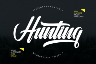 Hunting  Font Download
