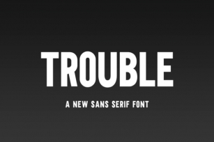 Trouble Font Download