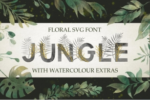 Jungle. SVG font + extras. Just 2$ Font Download