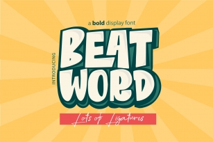 Beat Word Font Download