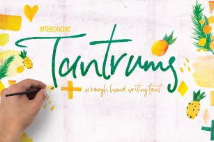 Tantrums Hand Writing Font Download